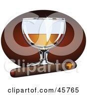 Royalty-Free (RF) Cigar Clipart, Illustrations, Vector Graphics #1