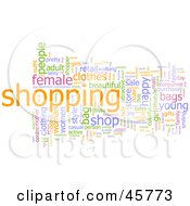 Royalty Free RF Clipart Illustration Of A Background Of Colorful Shopping Word Tags by Kheng Guan Toh