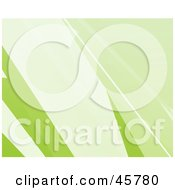 Royalty Free RF Clipart Illustration Of A Background Of Gradient Green And White Lines Spanning Diagonally