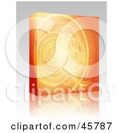 Software Or Product Box With Bright Spiraling Fractals On Orange