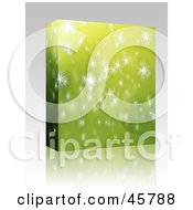 Royalty Free RF Clipart Illustration Of A Software Or Product Box With Sparkles Or Snowflakes On Green