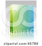Royalty Free RF Clipart Illustration Of A Software Or Product Box With Waves On A Colorful Gradient