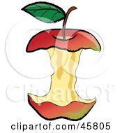 Royalty Free RF Clipart Illustration Of An Organic Red Apple Core After Being Devoured by Pams Clipart #COLLC45805-0007