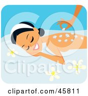 Relaxed Woman Getting A Luxurious Diamond Massage