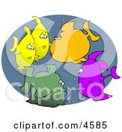 School Of Tropical Fish Clipart