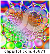 Royalty Free RF Clipart Illustration Of A Funky Wormhole Colorful Background Of Orbs Flowing Into The Distance by ShazamImages
