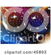Royalty Free RF Clipart Illustration Of A Colorful Celestial Background Of Stars In A Galaxy by ShazamImages