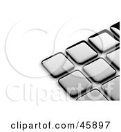 Royalty Free RF Clipart Illustration Of An Abstract Background Of Shiny Silver Tiles With Shading On White