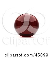 Royalty Free RF Clipart Illustration Of A Reflective Red Sphere With A Shadow