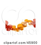 Royalty Free RF Clipart Illustration Of A Red And Orange Curly Wave by chrisroll