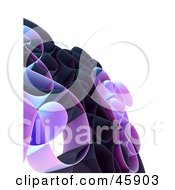 Royalty Free RF Clipart Illustration Of A Tangled Purple Network Wave