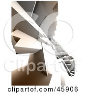 Royalty Free RF Clipart Illustration Of A Complex 3d Render Of A Slanted Urban Cityscape by chrisroll