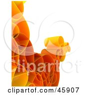 Royalty Free RF Clipart Illustration Of A Red And Orange Curly Network Wave by chrisroll