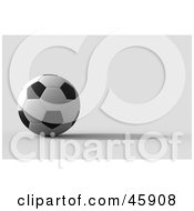 Royalty Free RF Clipart Illustration Of A Still Soccer Ball With A Shadow by chrisroll