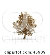 Royalty Free RF Clipart Illustration Of A 3d Rendered Tree Of Gold Symbolizing Wealth