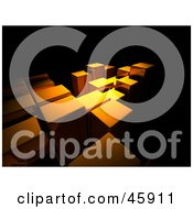 Royalty Free RF Clipart Illustration Of Golden Light Cast On Columns Rising At Equal Levels by chrisroll