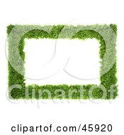 Royalty Free RF Clipart Illustration Of A Realistic Green Grass Frame by chrisroll