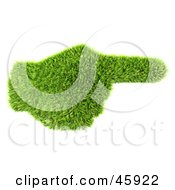 Royalty Free RF Clipart Illustration Of A Green 3d Grass Hand Pointing To The Right by chrisroll