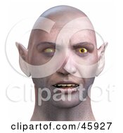 Royalty Free RF Clipart Illustration Of A Realistic 3d Render Of A Zombie Head With Evil Eyes