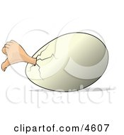Concept Of Thumbs Down Egg Clipart by djart