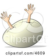 Concept Of An Egg Needing Help Clipart