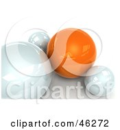 Royalty Free RF Clipart Illustration Of A 3d Orange Sphere Resting With White Ones by Tonis Pan