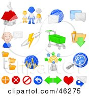 Royalty Free RF Clipart Illustration Of A Digital Collage Of Internet E Commerce And Chatting Icons by Tonis Pan