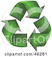 Royalty Free RF Clipart Illustration Of A Circle Of Grass Textured Recycle Arrows