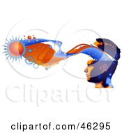 Royalty Free RF Clipart Illustration Of A Man With Creativity Flowing From His Brain Visualizing Stars And Bursts by Tonis Pan