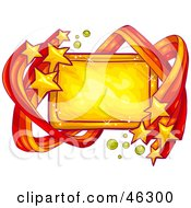 Royalty Free RF Clipart Illustration Of A Blank Sign Bordered In Shooting Yellow Stars
