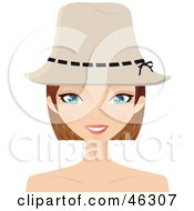 Royalty Free RF Clipart Illustration Of A Pretty Dirty Blond Woman Wearing A Hat