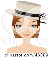 Royalty Free RF Clipart Illustration Of A Pretty Dirty Blond Woman Wearing A Stylish Hat