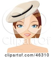 Royalty Free RF Clipart Illustration Of A Pretty Dirty Blond Woman Wearing A Cap