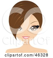 Royalty Free RF Clipart Illustration Of A Brunette Woman With A Stylish Bob Cut