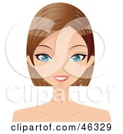 Royalty Free RF Clipart Illustration Of A Pretty Woman With Her Hair Cut To Her Chin