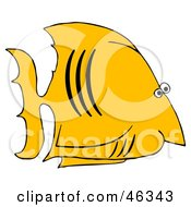 Yellow Salt Water Fish With Black Gills