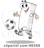 Blank Flag Playing Soccer