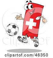 Switzerland Flag Playing Soccer