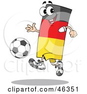 Royalty Free RF Clipart Illustration Of A German Flag Playing Soccer by Holger Bogen #COLLC46351-0045