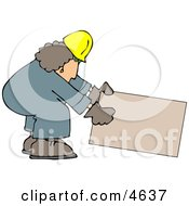 Female Construction Worker Clipart by djart
