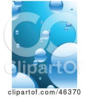 Royalty Free RF Clipart Illustration Of A Background Of Shiny Bubbles In Blue Water by elaineitalia