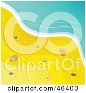 Royalty Free RF Clipart Illustration Of Small Sea Shells In The Sand At The Surfs Edge