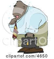 Ethnic Businessman Sweating From The Summer Heat Clipart