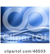 Royalty Free RF Clipart Illustration Of An Entwined Blue Wave Background