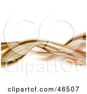 Royalty Free RF Clipart Illustration Of A Horizontal Brown And Orange Wave On White