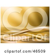 Royalty Free RF Clipart Illustration Of A Golden Wave Background