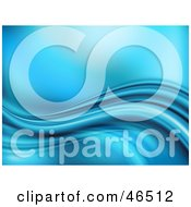 Royalty Free RF Clipart Illustration Of A Blue Wave Flowing Background