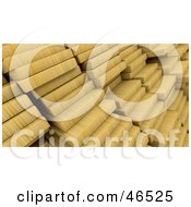Royalty Free RF Clipart Illustration Of Stacked 3d Pine Wood Planks