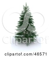 Royalty Free RF Clipart Illustration Of A 3d Green Christmas Tree Before Decorations