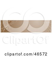 Royalty Free RF Clipart Illustration Of A Brown Horizontal Floral Panel Or Blank Website Header